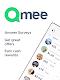 screenshot of Qmee: paid surveys. Cash, quick money rewards