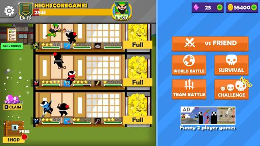 Jumping Ninja Battle - Two Player battle Action 3.98 screenshots 6