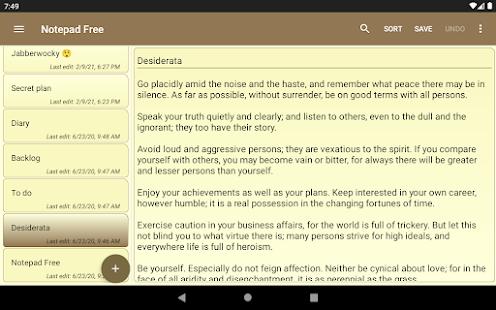 Notepad Free  Screenshots 8