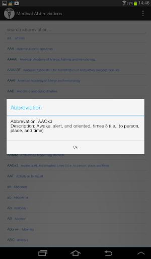 Medical Abbreviations 1.2.4 Screenshots 6