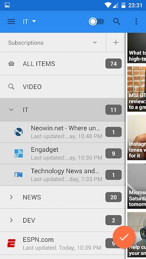 gReader   Feedly   News   RSS  screenshots 2