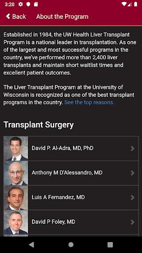 UW Liver Transplant 1.0 Screenshots 2