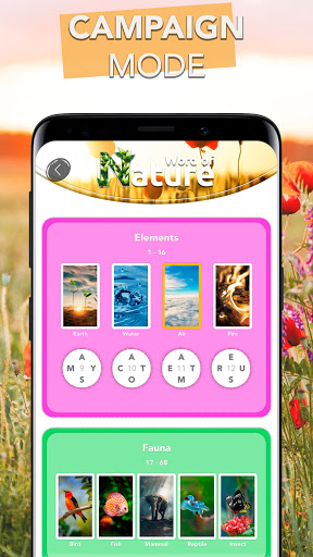 Word Connect - Words of Nature: Word Games apkpoly screenshots 2