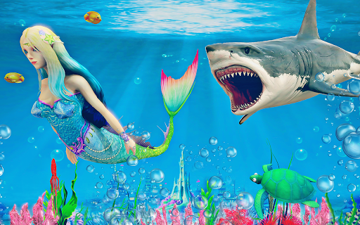 Mermaid Simulator 3D - Sea Animal Attack Games  screenshots 9