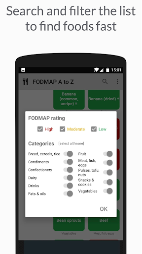 Low FODMAP diet A to Z food list for IBS sufferers screenshot 2