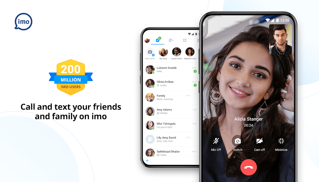 imo free video calls and chat  poster 0