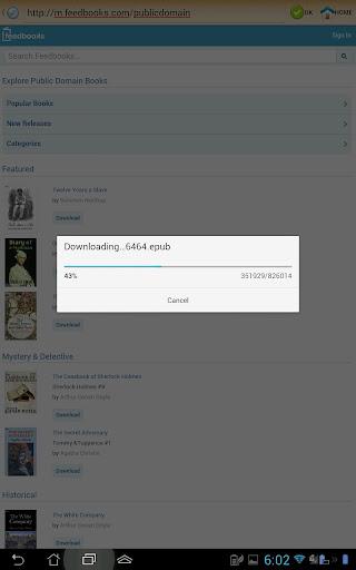ePub Reader for Android 2.1.2 Screenshots 17