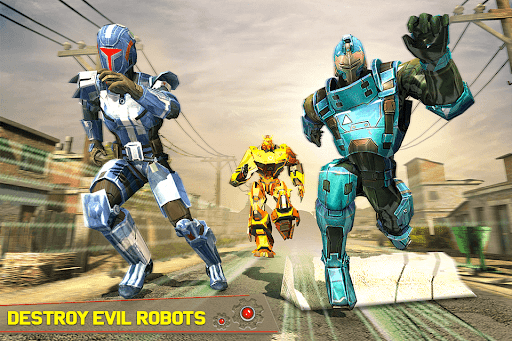 Tank Robot Car Games - Multi Robot Transformation screenshots 4