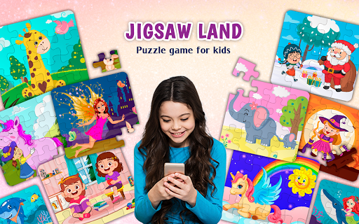 kids puzzles game for girls & boys screenshot 1