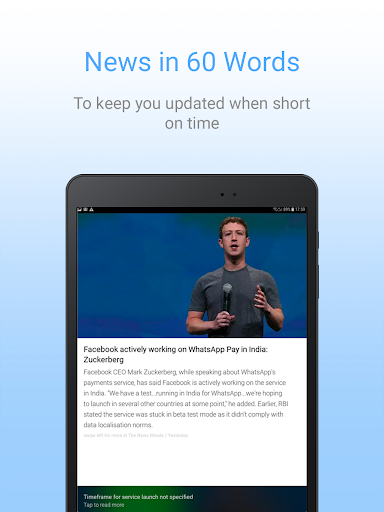 Inshorts - 60 words News summary 5.1.27 Screenshots 17