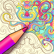 Colorju Symmetric Mandala Coloring Book
