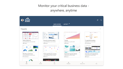 Microsoft Power BIu2013Business data analytics apktram screenshots 11