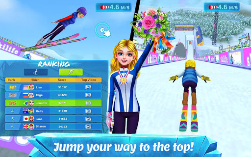 ski girl superstar - winter sports & fashion game screenshot 3