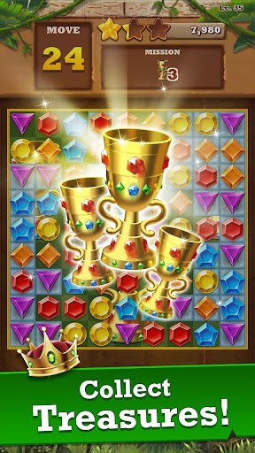 Jungle Gem Blast: Match 3 Jewel Crush Puzzles  screenshots 3