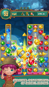 Jewels fantasy: Easy and funny puzzle game 1.7.2 Apk + Mod 2