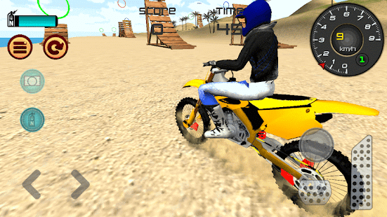 Motocross Playa 3D Saltando Screenshot