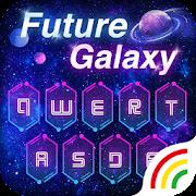 Neon Galaxy Keyboard Theme