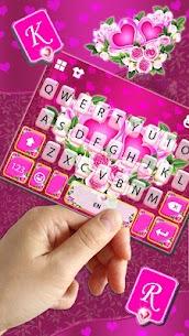 Pink Rose Flower Keyboard Theme 2