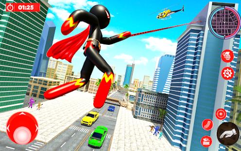 Real Police Stickman Rope Hero 18 Screenshots 9