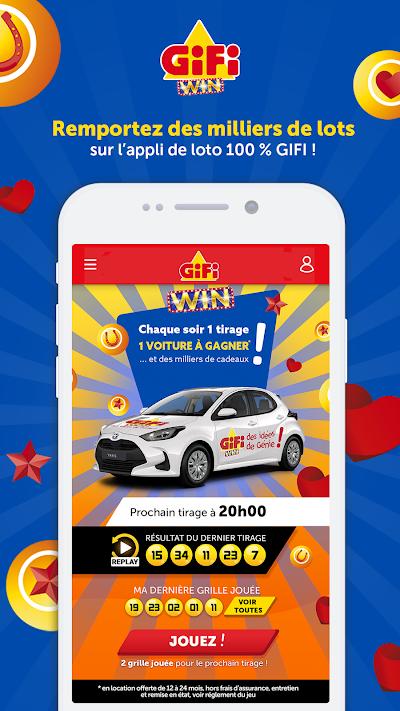 GIFI WIN, gagnez avec votre ticket de caisse ! Android App Screenshot