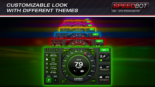 Speedbot. Free GPS/OBD2 Speedometer 2.7 Screenshots 4
