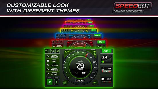Speedbot. Free GPS/OBD2 Speedometer screenshots 4