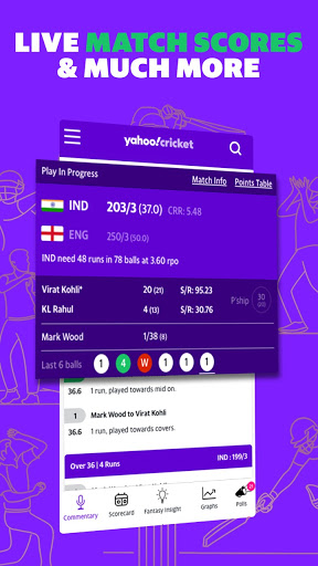 Yahoo Cricket App: Cricket Live Score, News & More  screenshots 1