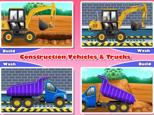 Construction Vehicles & Trucks - Games for Kids  Screenshots 9