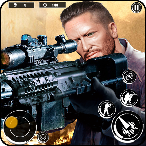 Desert Sniper 3D : Free Offline War Shooting Games