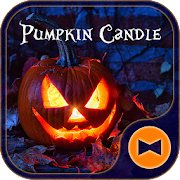 Halloween Wallpaper Pumpkin Candle Theme