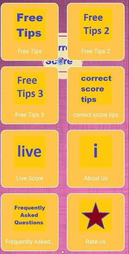 correct score tips screenshot 1