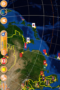 Globe Earth 3D: Flags, Anthems and Timezones Screenshot