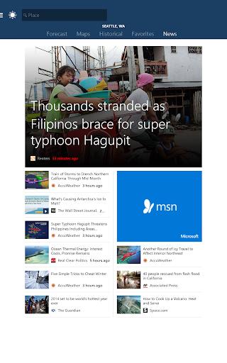 MSN Weather - Forecast & Maps 1.2.0 Screenshots 9