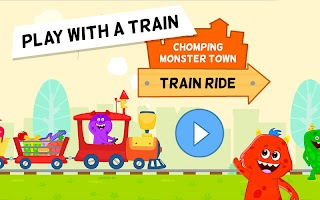 My Monster Town - Toy Train Games for Kids