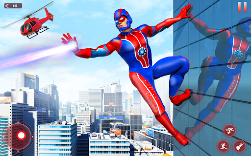 Flying Robot Superhero: Rescue City Survival Games screenshots 1