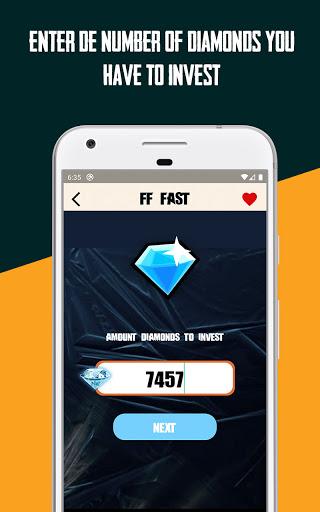 FFFast | Free Diamonds Converter Invest Calculator android2mod screenshots 1