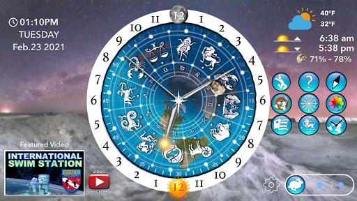 Flat Earth Sun, Moon & Zodiac Clock  screenshots 4