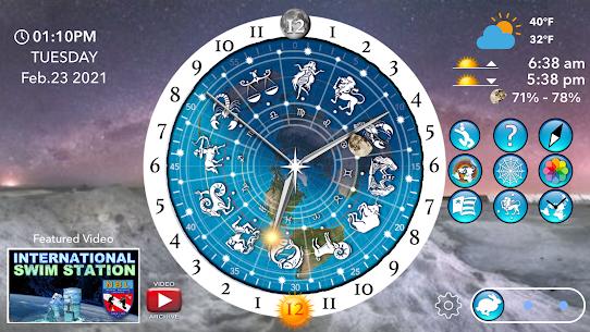 Flat Earth Sun, Moon  Zodiac Clock Apk 4