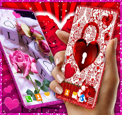 Love Live Wallpapers ❤️ 3D Hearts 4K Wallpapers  screenshots 1