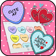 Candy Hearts Valentine Emoji Stickers