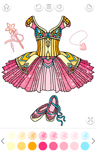 Ballerina Coloring Book Glitter - Girl Games apkpoly screenshots 8