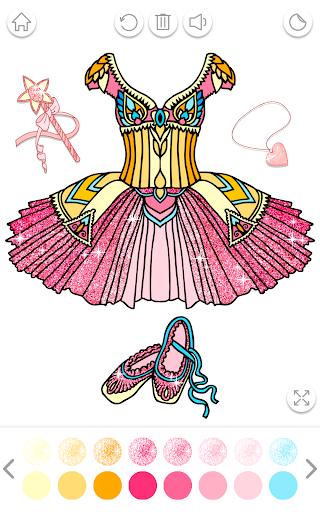 Ballerina Coloring Book Glitter - Girl Games 1.0.4.1 screenshots 8