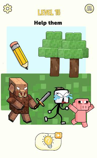 Stickman Craft - Brain Puzzle Games screenshots 16