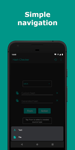 hash checker: md5, sha-1/224/256/384/512, crc-32 screenshot 2