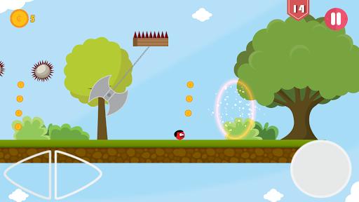 Super Red Jump Ball Mr Mustache 2.3 screenshots 6