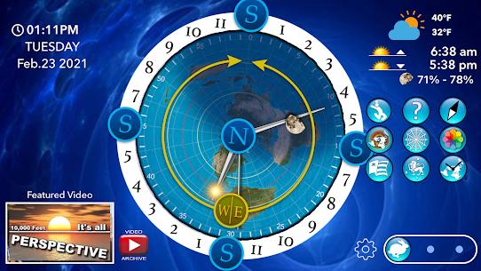Flat Earth Sun, Moon  Zodiac Clock Apk 5