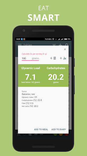 Glycemic Index Load in food net carbs diet tracker 3.6.1.0 Screenshots 2