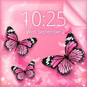 Pink Butterfly Live Wallpaper