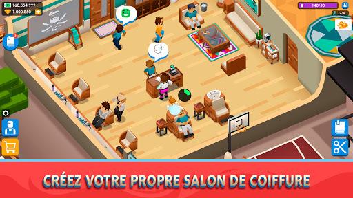 Code Triche Idle Barber Shop Tycoon - Jeu de commerce APK MOD (Astuce) screenshots 1