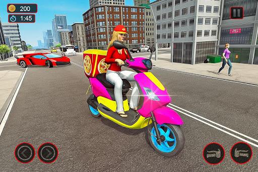 Moto Bike Pizza Delivery u2013 Girl Food Game 1.0 screenshots 6